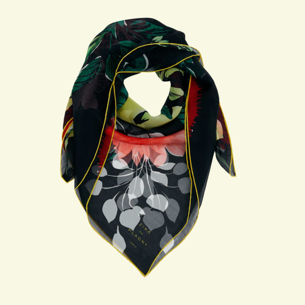 zina deplagny-foulard-carre-mousseline-soie