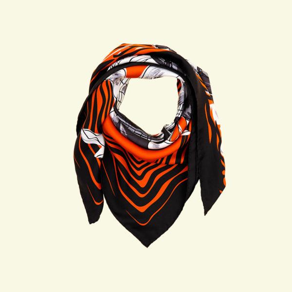 zina deplagny-caravelle-orange-twill-soie