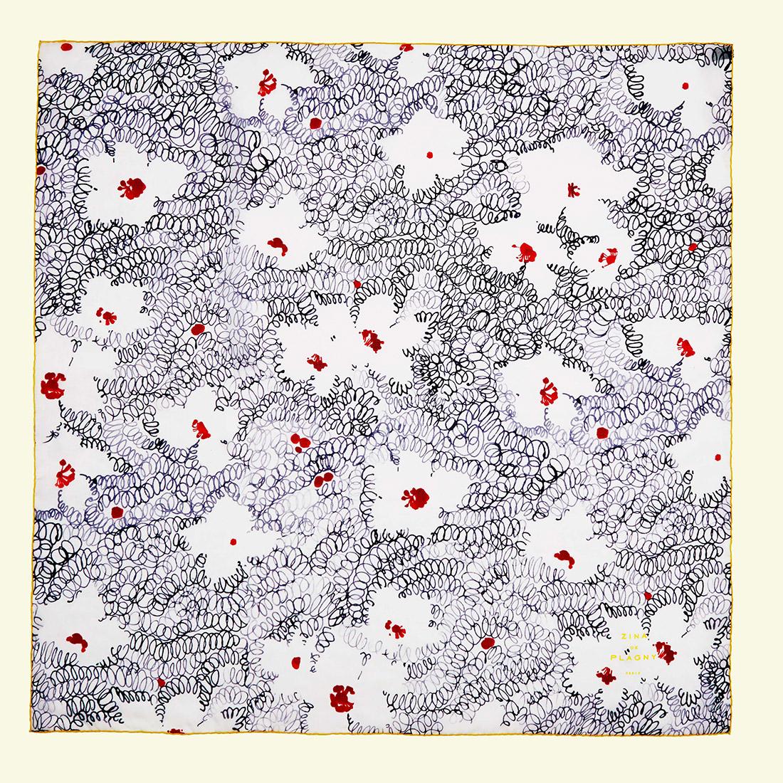 zina deplagny-scarf-silk-chiffon-semisdefleurs
